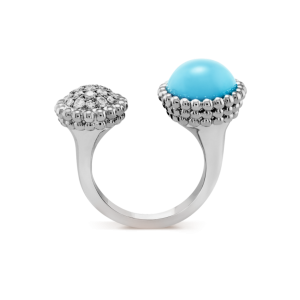 Van Cleef & Arpels Perlée - white gold, turquoise, round diamonds
