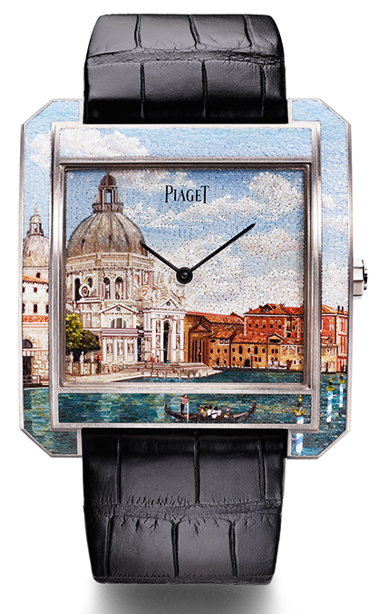 "Artistic Crafts Watch Prize: Piaget, Protocole XXL ""Secrets & Lights"" Venice Micro-Mosaic"