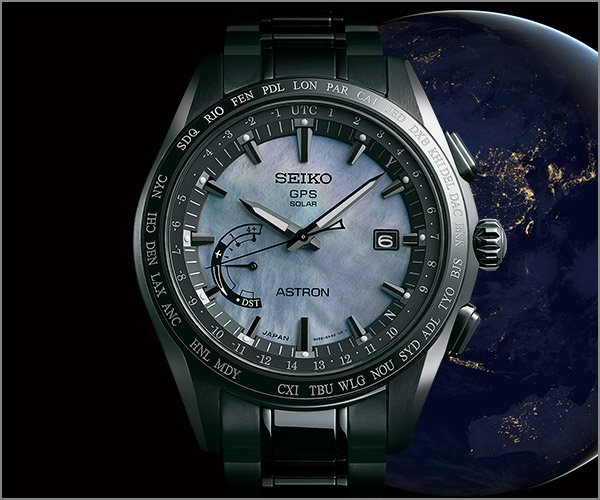 Seiko Astron GPS Solar Limited Edition mother-of-pearl dial