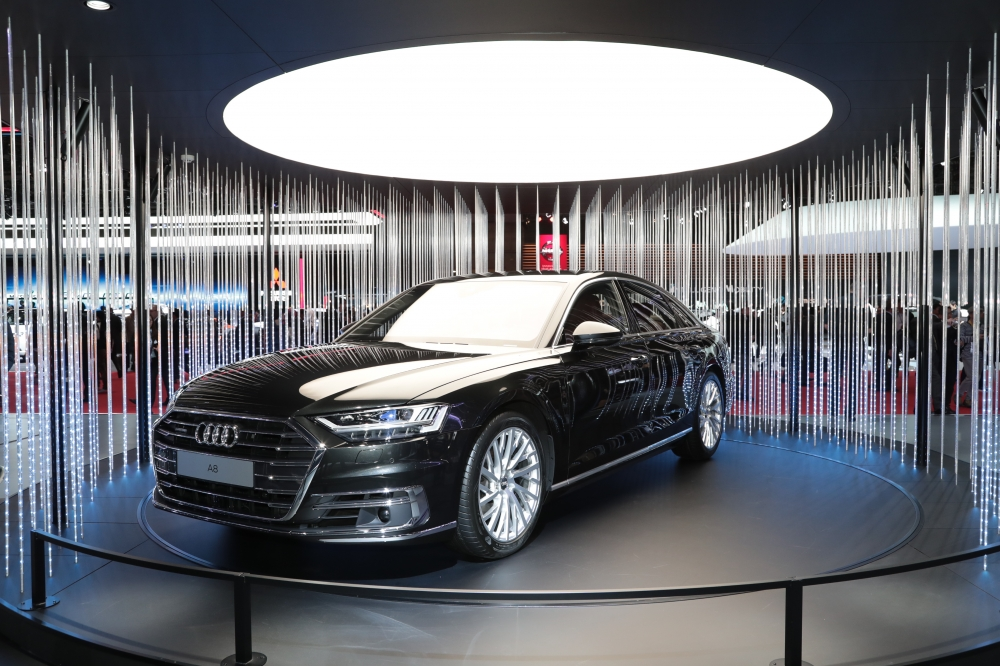 The new Audi A8 presents the future of the luxury class. In its fourth generation, the brand's flagship model again provides the benchmark for Vorsprung durch Technik – with an updated design, innovative touchscreen operating concept and a systematically electrified drive. The Audi A8 is also the first production automobile in the world to have been developed for highly automated driving.
