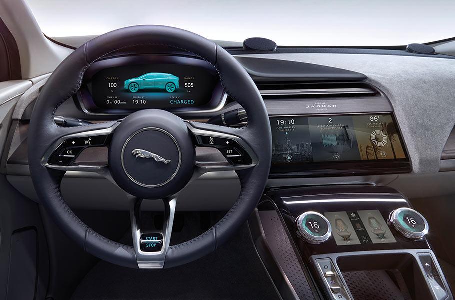 The Jaguar I‑PACE CONCEPT DESIGN - Beautiful Displays