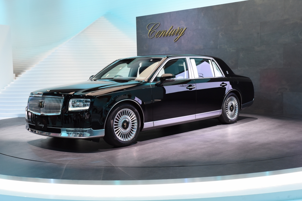 Toyota Century - The new 3rd generation Century carries on the tradition of master craftsmanship and high-quality 'monozukuri' (all-encompassing manufacturing) while realising high-demand environmental performance and a passenger comfort. Interior and exterior design inject new charm into the Century in line with its heritage. The new Century features advanced equipment and comfort amenities only suitable for a luxury limousine