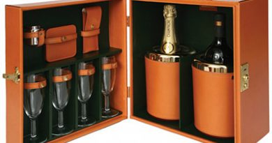 Portable Champagne and Wine Bar set by Swaine Adeney Brigg